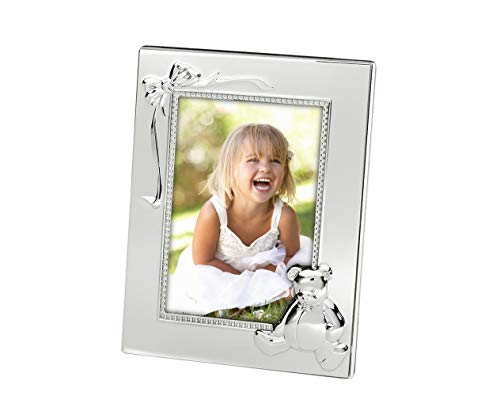 Brillibrum Design Baby Bilderrahmen versilbert anlaufgeschütz Kinder-Fotorahmen 1. 2. 3. Geburtstag Kinder Bilder Silber-Fotorahmen 10 x 15 cm Silber-Rahmen