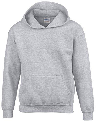 Gildan -  Felpa con cappuccio  - ragazzo Sport grigio