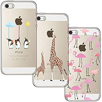 977af3b1d67d23 [3 Pack] iPhone 5 Case, iPhone 5S Case, iPhone SE Case, Shumeifang® Ultra  Thin Soft ...