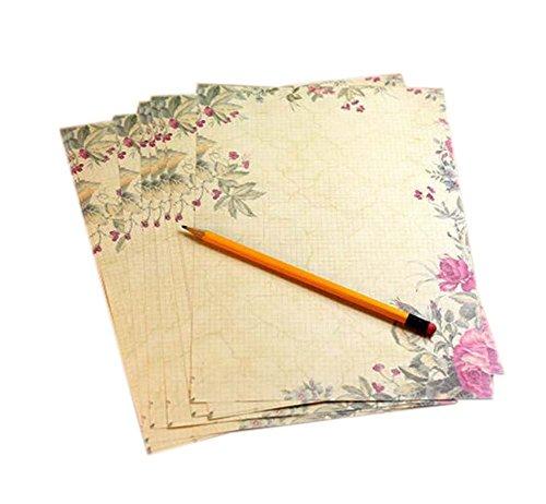 wunderschöne Rose braunes Pack Briefpapier/ Schreibpapier(8 Stück)