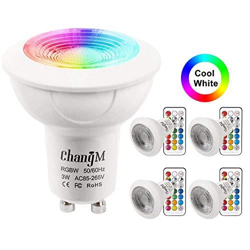 Changement Spot Dimmable Rgb Froid 3w Led De Télécommande 20w Rgbw Par Gu10 Halogènes 21 Touches Ampoule 6000k Ampoules Blanc Couleur GzMjqSpLUV