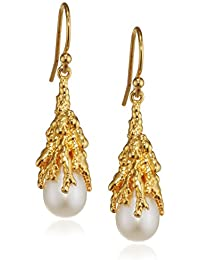Ornella Iannuzzi Coralline Reef Gold Plated Sterling Silver Drop Earrings vZ1aznhGB