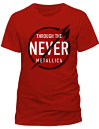 Live Nation Men's Metallica - Never Crew Neck Short Sleeve T-Shirt