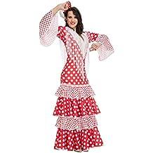 My Other Me Me-203861 Disfraz de flamenca Rocío para mujer Color rojo S Viving