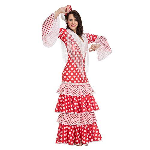 My Other Me Damen Kostüm Flamenco Morgentau, Rot (viving Costumes) S ()