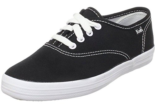 Keds Champion Black White Canvas Womens Plimsolls Trainers Shoes-4