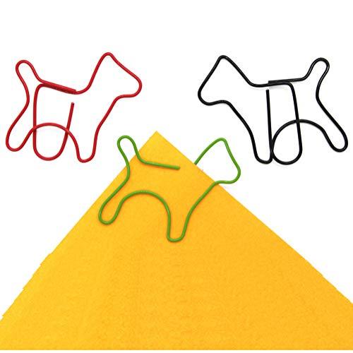 Colorful Papier Clips, niedlicher Hunde-Form Klammern Büroklammer Lesezeichen für Art Crafts Scrapbook Büro Schule 50 (Schule Clip Art)