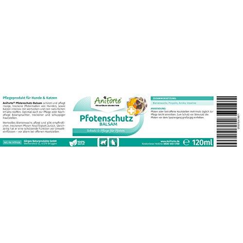 AniForte® Pfotenschutz Balsam 120 ml – Besonderer Schutz & Pflege für Pfoten – Pflegemittel für Hunde und Katzen - 3