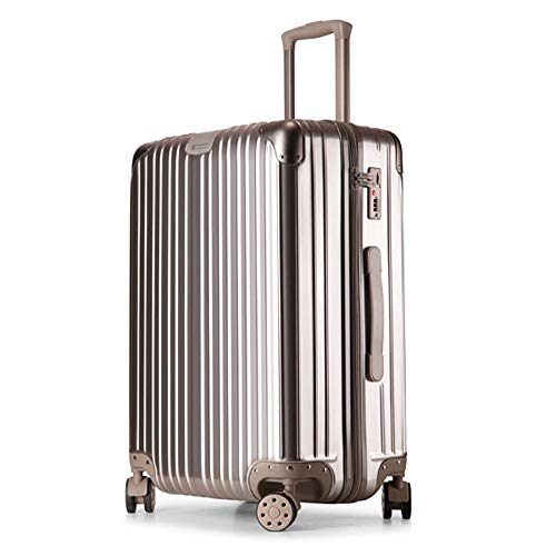 FDSjd Cassa semplice del carrello di modo di grande capacità della scatola di serratura dei bagagli di viaggio della ruota universale di viaggio (colore : Oro, dimensioni : 20 inches)