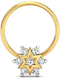 Stylori 18k Yellow Gold Diamond Nose Ring