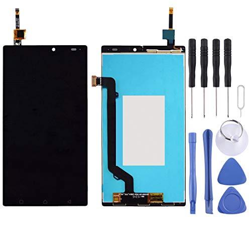 YCZLZ Display-Touch Screen für Lenovo Handy-Zubehör LCD-Bildschirm und Digitizer Vollversammlung for Lenovo Vibe X3 Lite / K51c78 (Schwarz) + Tools (Farbe : Black)
