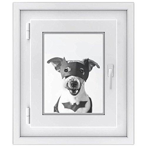 Premium Fensterbild | selbsklebende Fensterfolie - dekorative Klebe-Folie für Fenster - hochwertige Fensteraufkleber | Home Dekoration - Fenstergestaltung | Fensterfolie 30 x 40 cm - Motiv Held