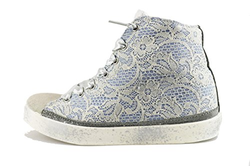BEVERLY HILLS POLO CLUB sneakers donna celeste tessuto AH998 (41 EU)
