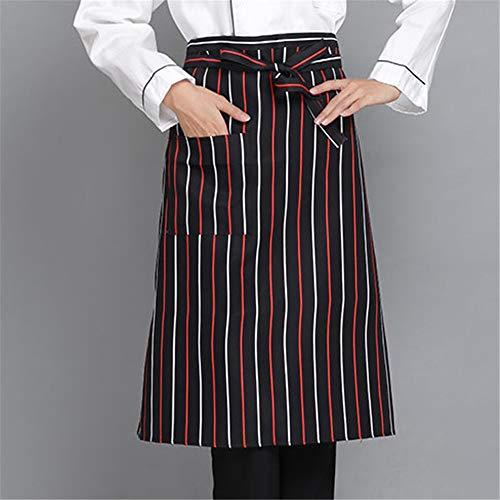 Chef Männlichen Kostüm - YXDZ (2 Stücke Kochschürze Half Body Hotel Restaurant Küchenchef Wasserdicht Ölbeständig Kartenschürze Short Chef Taille Männlich C