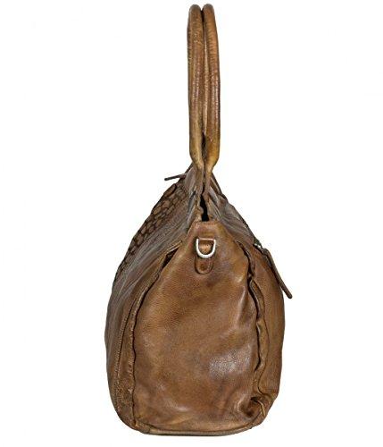 FREDsBRUDER Wild Life Bolsa a mano pelle 42 cm braun, braun