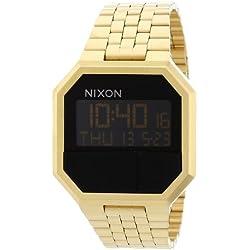 Nixon Reloj Digital de Cuarzo Unisex con Correa de Acero Inoxidable Chapado – A158502-00