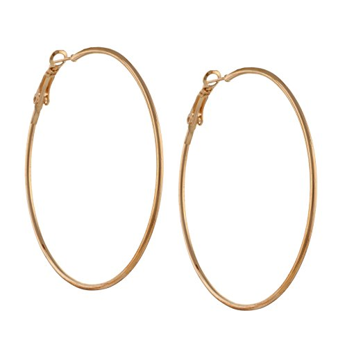 Zephyrr Fashion Large Trendy Hoop Earrings for Girls and Women