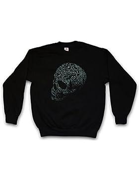 Ornament Skull I Sweatshirt – Cráneo Dead Tattoo Art Rockabilly Skeleton Roses Artist Flash Death Reaper Bones...