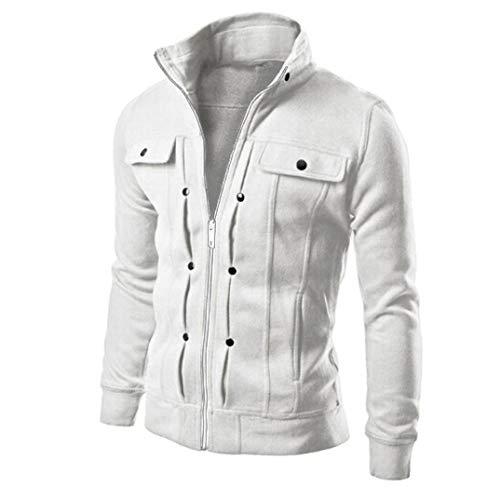 Uomogo autunno invernale degli uomini felpa con cappuccio zip hooded sweatshirt hoodie giacca pullover fresco felpe manica lunga con superiori del cappotto del rivestimento outwear