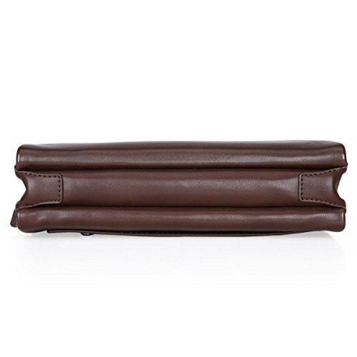Borsa In Pelle Composita In Spessore Resistente All'usura Borsa A Mano Borsa Grande Capacità Borsa Business Clutch Bag Atmosfera Brown1