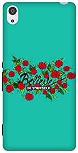 The Racoon Lean Believe hard plastic printed back case for Sony Xperia Z3