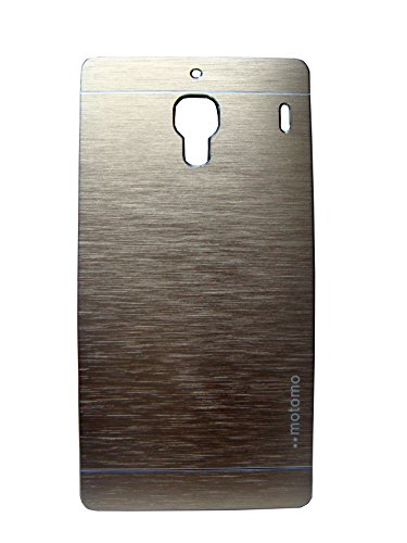 MACC Luxury Brushed Metal Motomo Back Case Cover for Xiaomi Redmi 1s - Champigne Gold