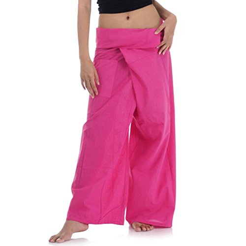 Thai Fisherman Pants Wickelhose Kung Fu Karate Yoga Hose (Pink)