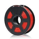 Wolfgray 1.75mm PLA Filament d'imprimante 3D, PLA de filament d'impression 3D pour imprimante 3D et stylo 3D, précision dimensionnelle +/- 0.02 mm, bobine 1KG (Rouge)-Ligne soignée, Impression lisse