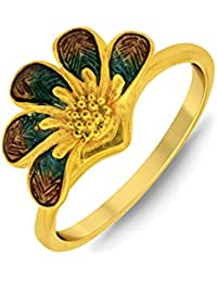 P.N.Gadgil Jewellers Lavanya Collection 22k (916) Yellow Gold Ring - B01M7PCXON