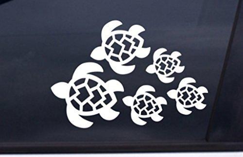 Tortuga Familia Adhesivo, Tortugas Natación para | coche, camión, pared, ordenador portátil, teléfono... | 7x 4,8en | kcd221