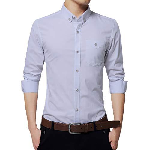 Herren Hemd Langarm Sommer Bedruckte lässige Freizeithemden Hochzeitshemden Businesshemden Strandhemden Urlaubshemden Schmale Hemden CICIYONER