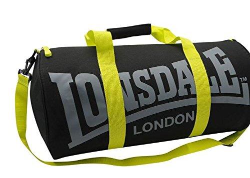 Lonsdale-Bolsa De deporte, color negro y amarillo, represión X 54 X D26Cm