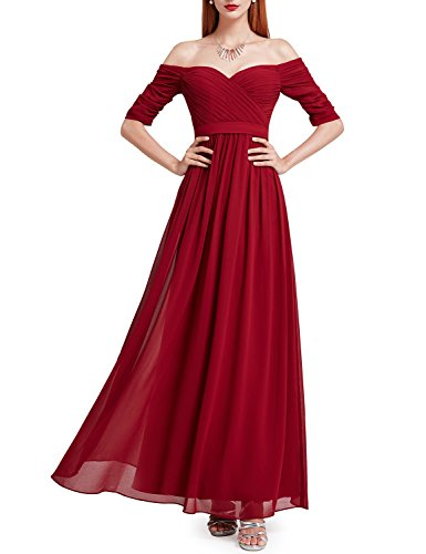Ever Pretty Women's Off-The-Shoulder Sweetheart Neckline A Line Long Bridesmaid Dresses 07411