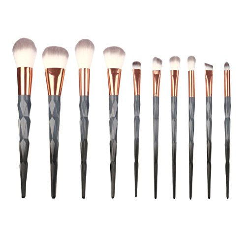 Siswong 10 Pieces Makeup Brush Kit Professionnel Makeup Eye Brushes Cosmetic Eyeliner Eye Shadow Brush