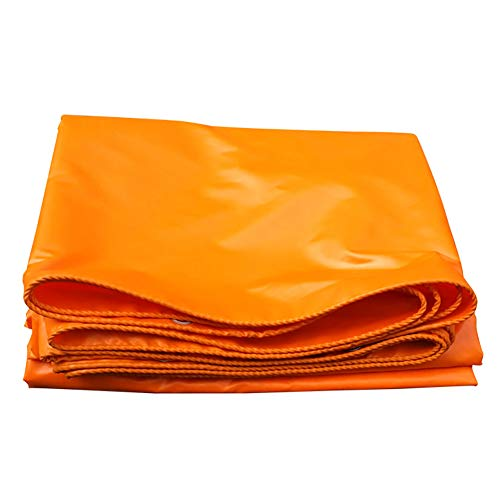 Bâches, Imperméable Résistante, De PVC avec La Résistance À La Déchirure De Toile De Tente De Tente De Protection D'œillets - 420g / Orange (Taille : 3×5m)