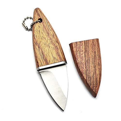 KMYS Mini Messer Holz-Griff Outdoor-Taktik Survival tragbares Jagd Campingr-Überlebensmesser