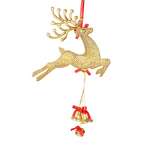 Junjie Startseite Christbaumschmuck Anhänger Deer Chital Hängende Weihnachtskugeln Party Dekoration 3D Sticker Tier Gemälde Möbel Aufkleber Resin Siliver/Rot / Gold Größe 29 * 19cm