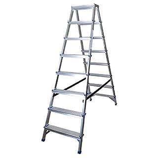 Abbey Aluminium Double Sided Step Ladders 8 Tread