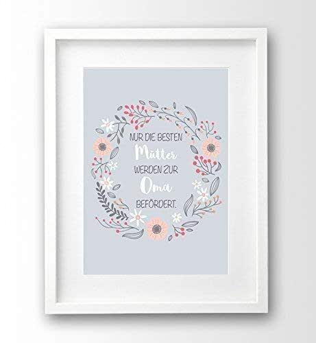 Kunstdruck Geschenk-Idee Mutter, Nur die besten Mütter