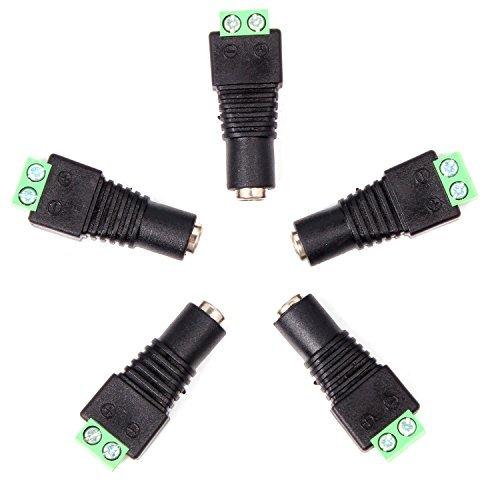 Neuftech® 5 Stück DC Buchse 2,1 x 5,5 mm Adapter mit Schraubklemme für z.B. Netzteil (Z-dc)