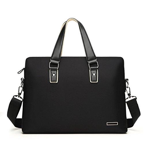 WANG Handtasche Umhängetasche Männer Oxford Business Tasche Aktentasche 37 * 5 * 28 Cm,Black