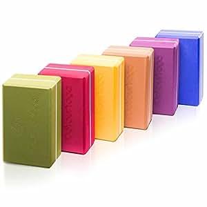 Yogablock »Kalidas« erhältlich in den Trendfarben: Erdbraun Moosgrün Bordeaux Currygelb Lila / Der ideale Yogaklotz aus gehärtetem Schaumstoff (Hartschaum) / REACH geprüft (keine Schadstoffe) der Yoga Brick ist ein praktisches Hilfsmittel (Yogazubehör) für eine Vielzahl an Yogaübungen / Asanas: Gesamtgewicht liegt bei ca.270g / Größe von 23 cm x 15 x 7 cm / rot