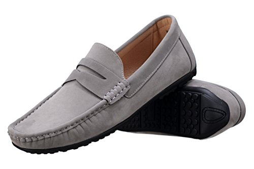 Goor - Chaussure Derbie W001 Mocassin Grey Gris