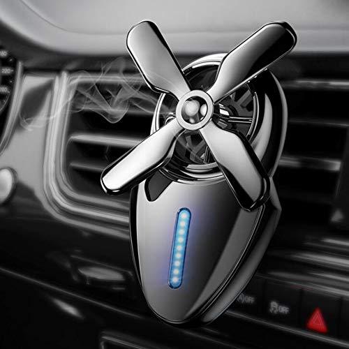 WEIYIQ Auto Aromaterapia Diffusore di Olio Deodorante per Auto Diffusore di Profumo Mini Ventilatore Decorazione Profumo Uscita Auto Aromaterapia Lega di Olio Essenziale 1 Confezione,Gray