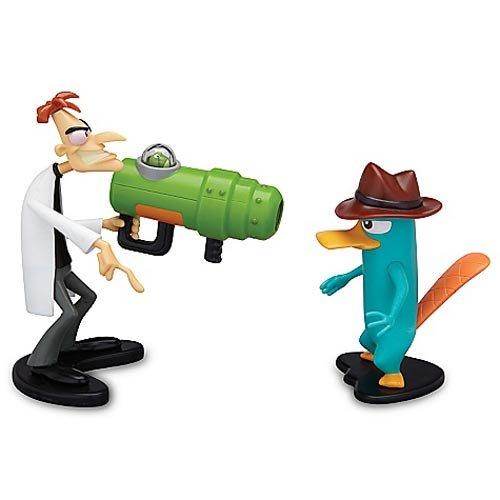 Phineas and Ferb Figures [Agent P and Dr. Doofenshmirtz Backfiring Uglyinator Gun] (Dr. Doofenshmirtz)