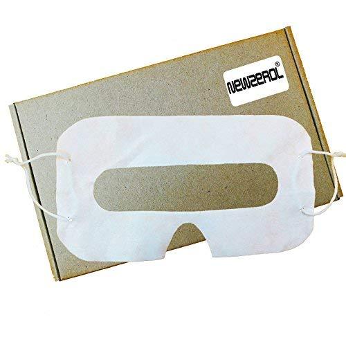 [100 Pack] Newzerol VR Masque d'oeil blanc hygiénique jetable pour casques de réalité virtuelle [Gear VR Oculus Rift HTC Vive PlayStation VR] (Électronique)
