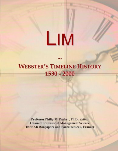 Lim: Webster's Timeline History, 1530 - 2000