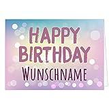 Personalisierte XXL Geburtstags-Karte - Verlauf modern HAPPY BIRTHDAY - Übergroße Klappkarte zum Geburtstag mit Ihrem Text, anpassbar