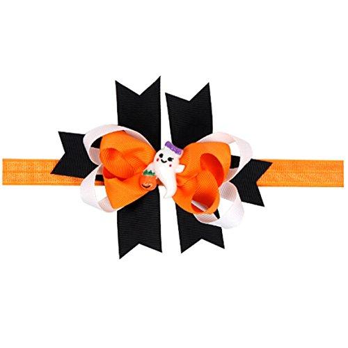 ODN Halloween Baby Mädchen Bogen Haarband Elastisches Stirnband Kopfschmuck Kostüme Zubehör,Style (Für Halloween Bilder Babys Von Kostüme)