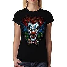 Psicópata Payaso Gracioso Mujer Camiseta M-2XL Nuevo